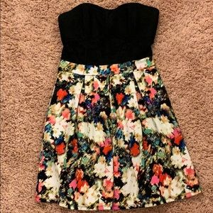 Xhilaration floral strapless dress